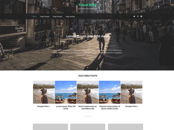 Free Travel Notes WordPress theme