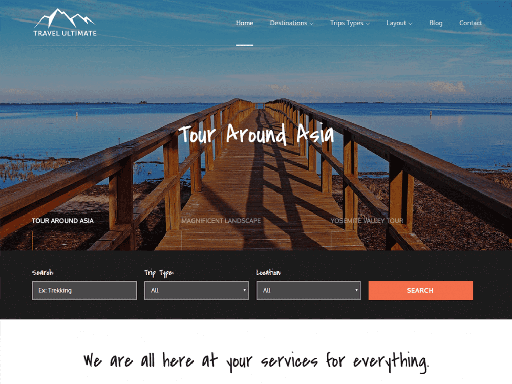Free Travel Ultimate WordPress theme