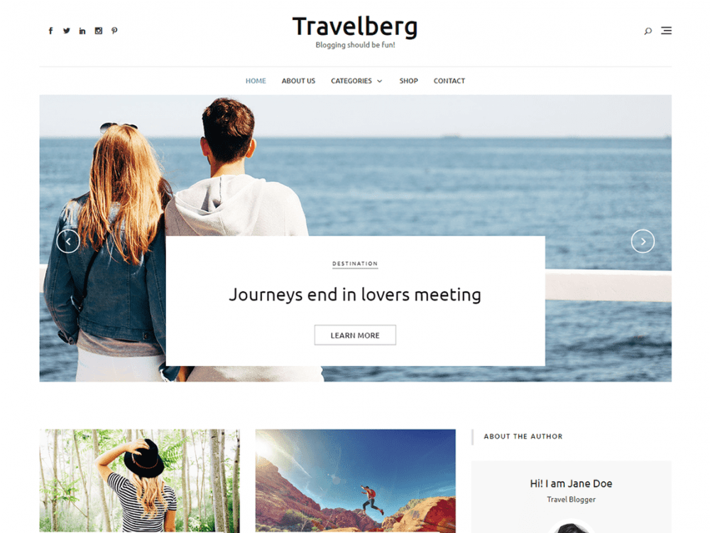 Free Travelberg WordPress theme