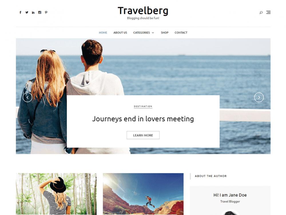 Free Travelberg WordPress theme
