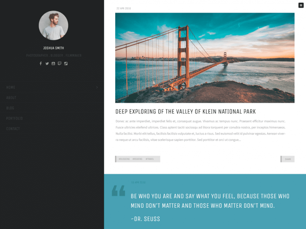 Free Trooper Lite WordPress theme