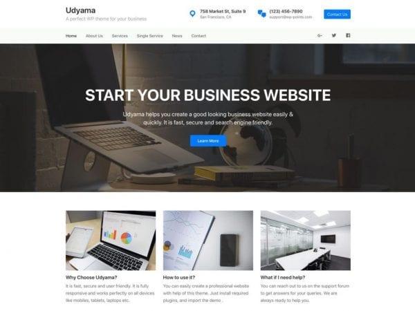 Free Udyama WordPress theme