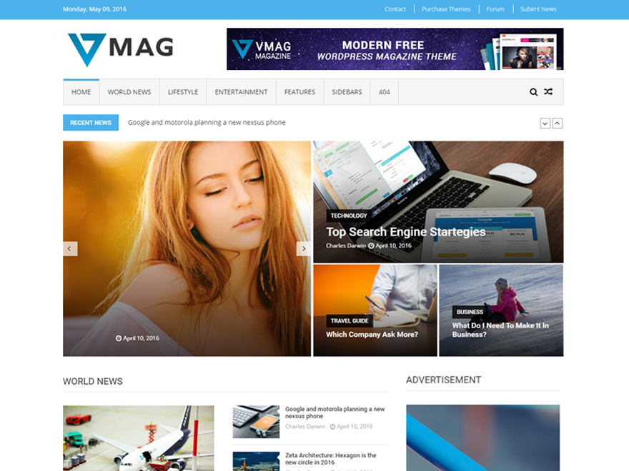 Free VMag WordPress theme