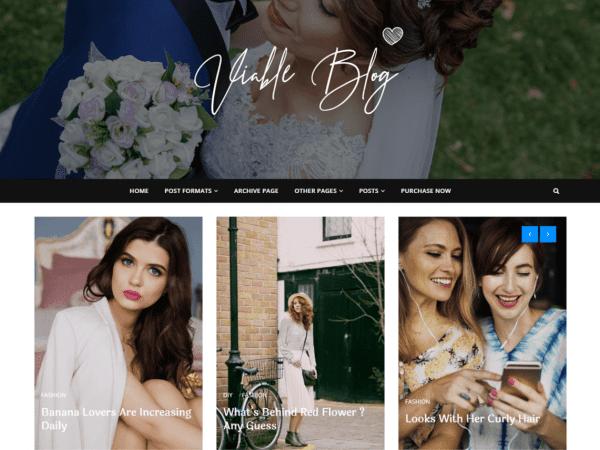 Free Viable Blog WordPress theme