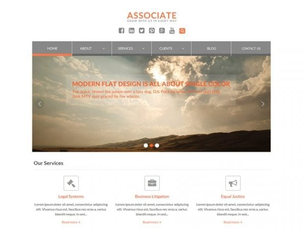Free WEN Associate WordPress theme
