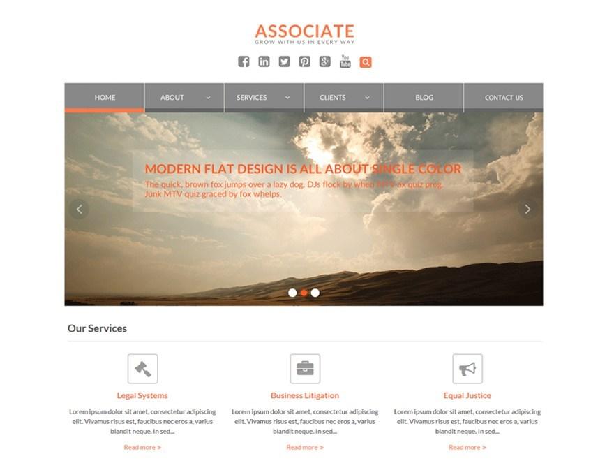 Free WEN Associate WordPress theme