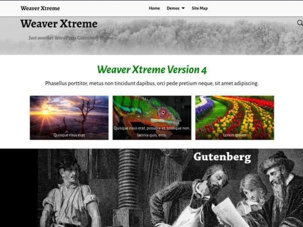 Free Weaver Xtreme WordPress theme