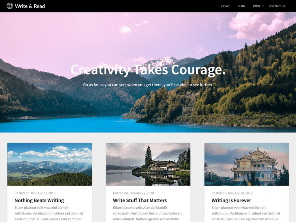 Free Write And Read WordPress theme