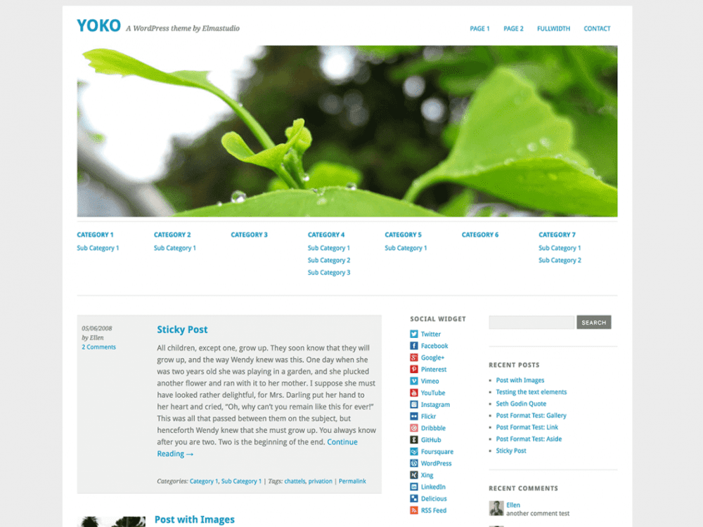 Free Yoko WordPress theme