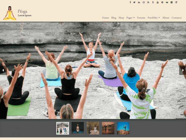 Free fYoga WordPress theme