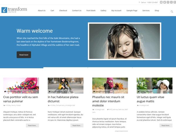 Free iTransform WordPress theme