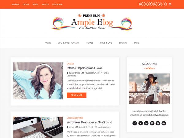 Free Ample Blog WordPress theme