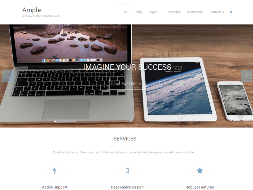 Free Ample WordPress theme