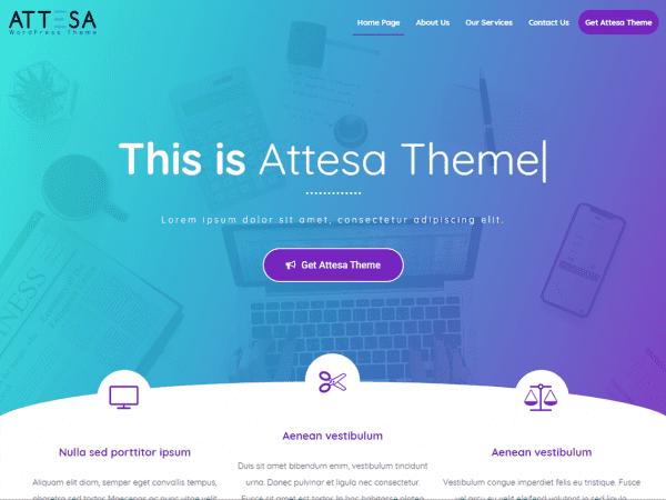 Free Attesa WordPress theme