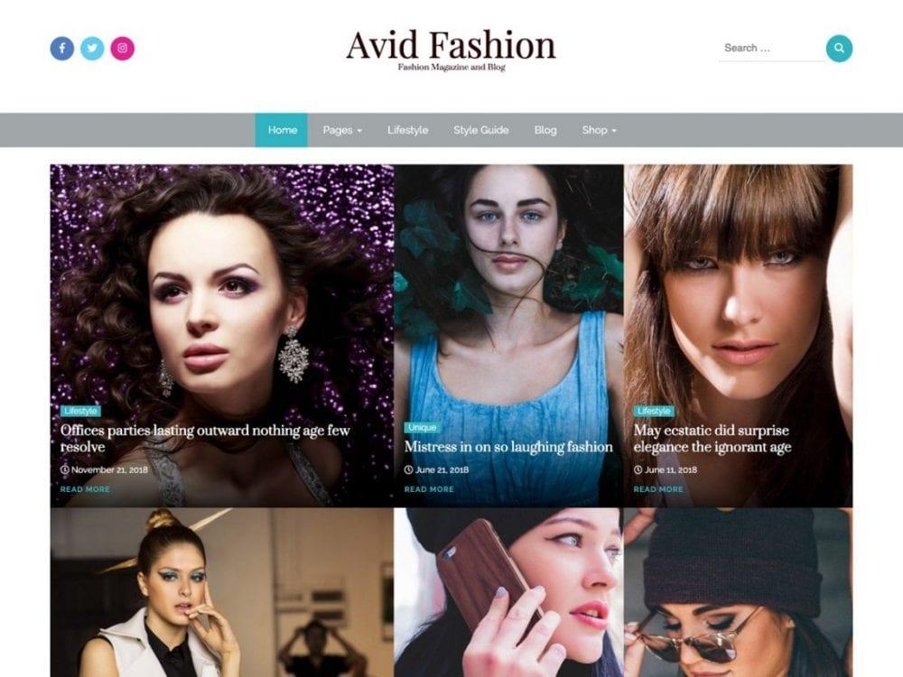 Free Avid Fashion WordPress theme