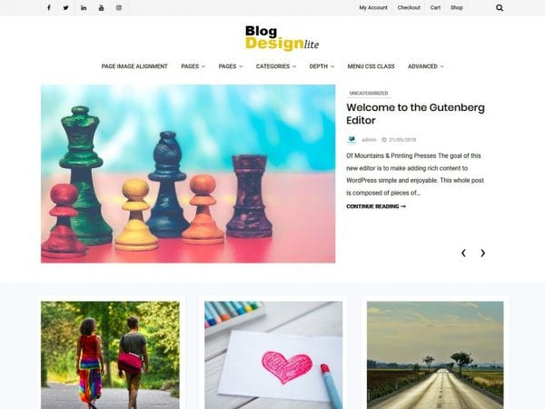 Free Blog Design Lite WordPress theme