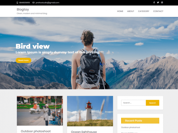 Free Blogtay WordPress theme