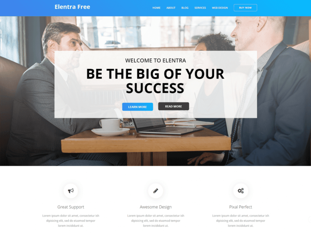 Free Business Elentra WordPress theme