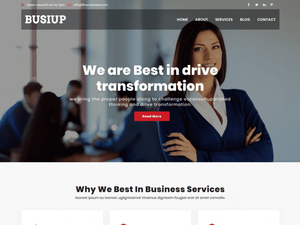 Free Busiup WordPress theme