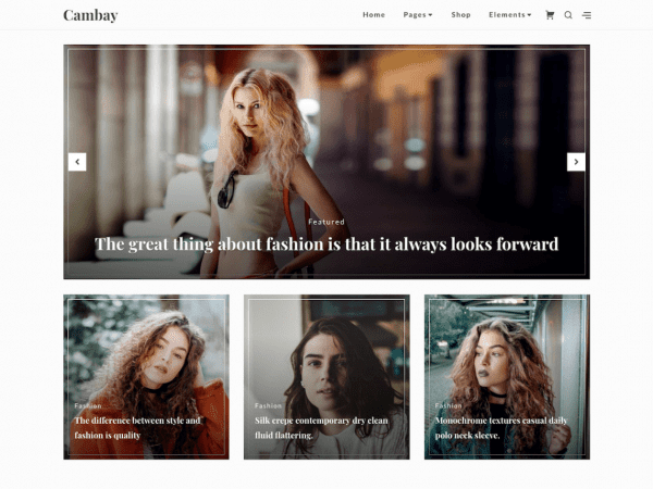 Free Cambay WordPress theme
