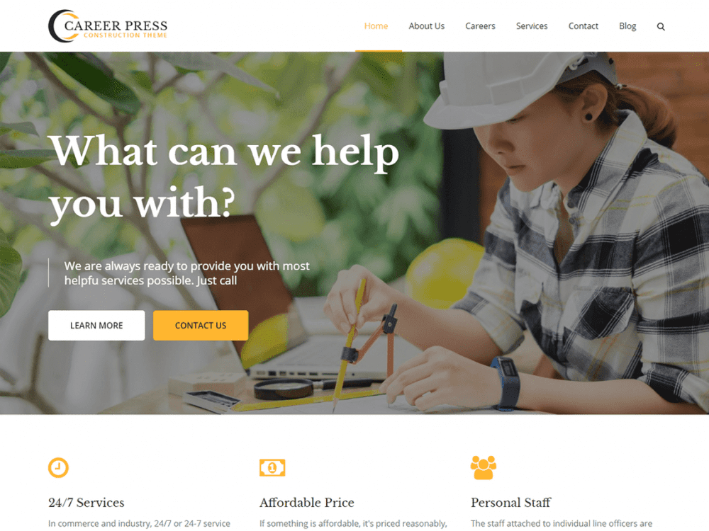 Free Careerpress WordPress theme