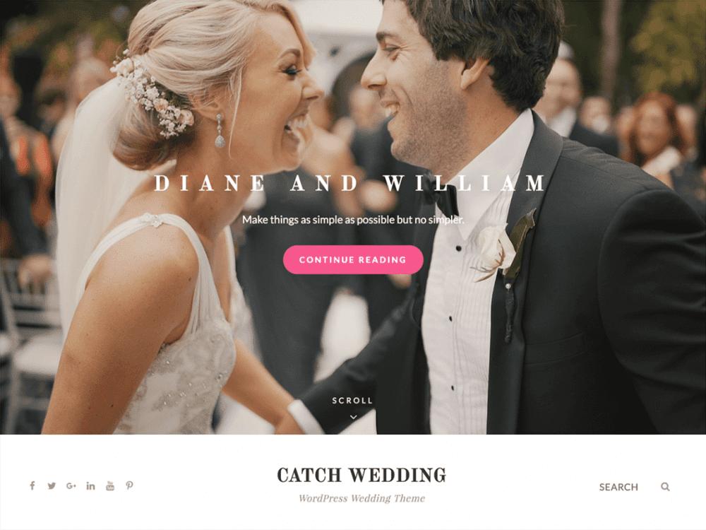 Free Catch Wedding WordPress theme