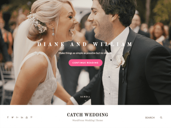 Free Catch Wedding WordPress theme