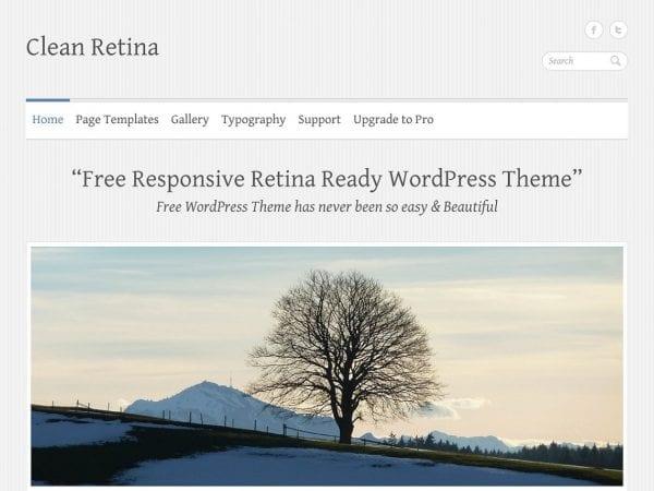 Free Clean Retina WordPress theme