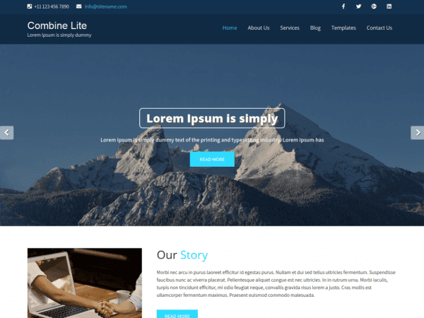Free Combine Lite WordPress theme