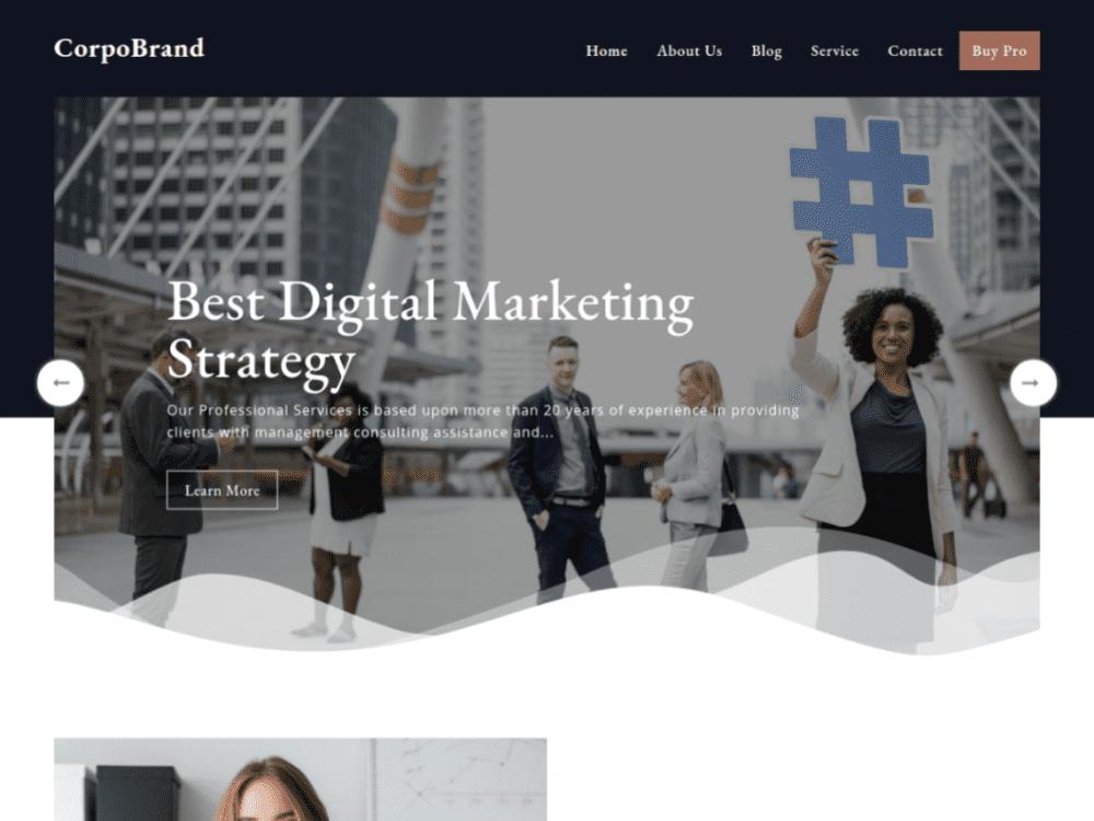 Free Corpobrand WordPress theme