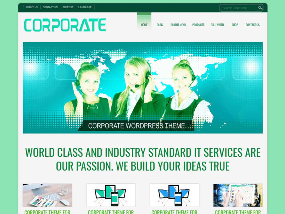 Free D5 Corporate Lite WordPress theme