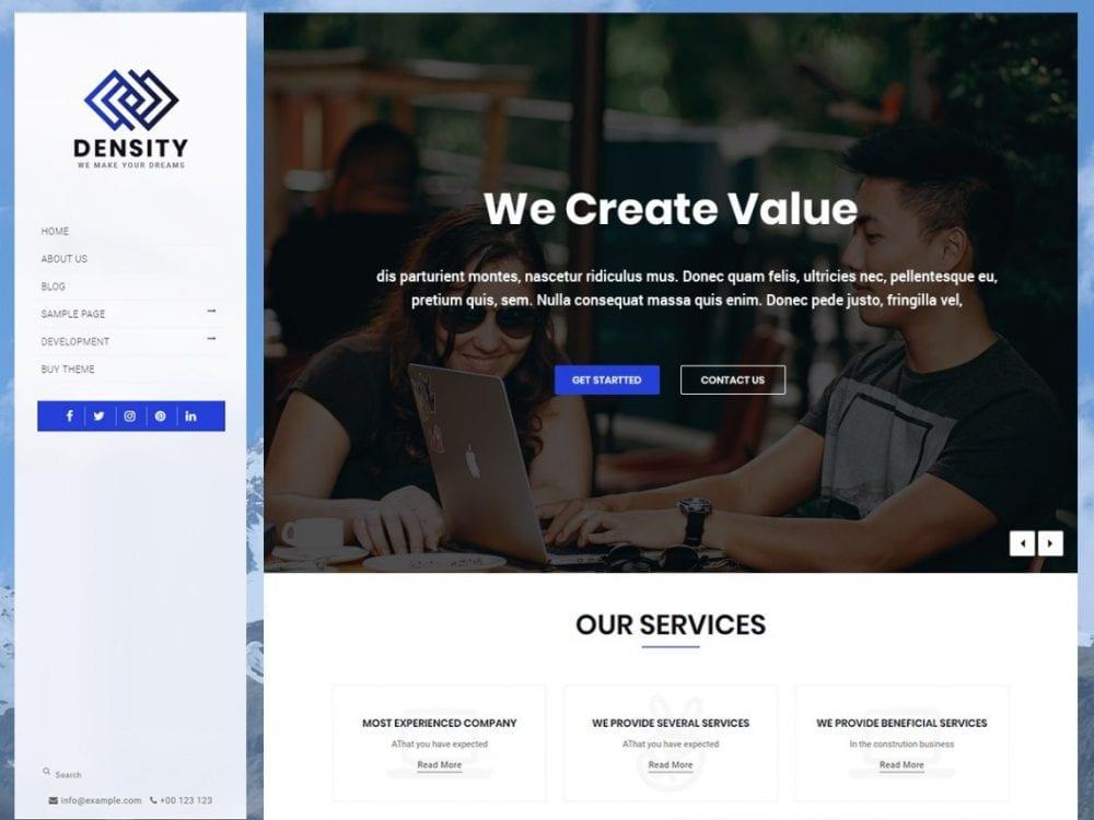 Free Density Vertical WordPress theme