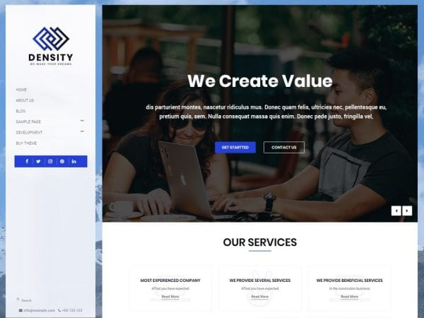 Free Density Vertical WordPress theme