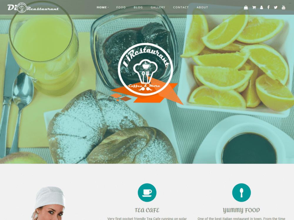 Free Di Restaurant WordPress theme