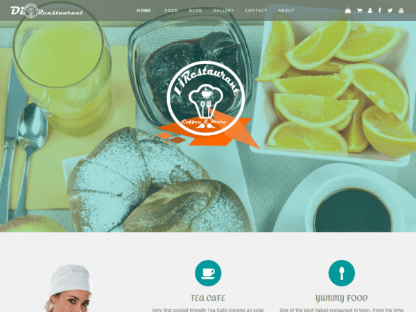 Free Di Restaurant WordPress theme