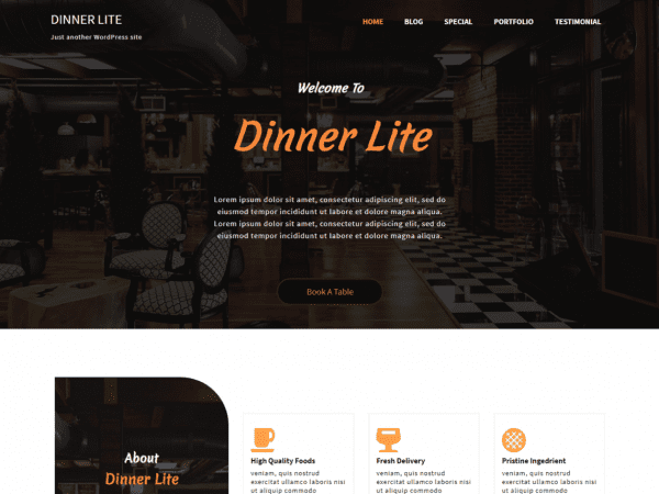 Free Dinner Lite WordPress theme