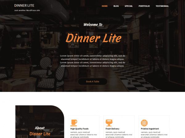 Free Dinner Lite WordPress theme