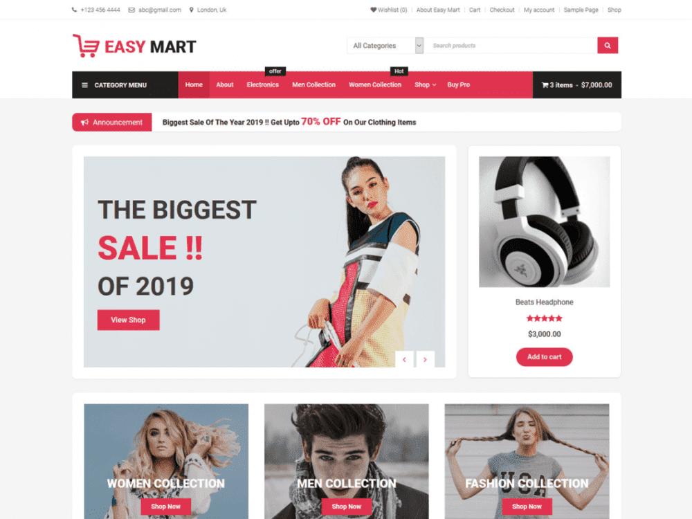 Free Easy Mart WordPress theme