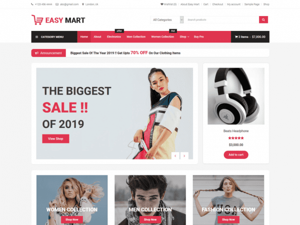 Free Easy Mart WordPress theme