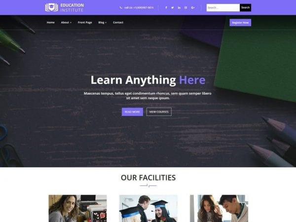 Free Education Institute WordPress theme