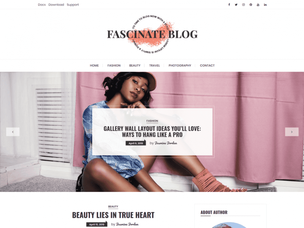 Free Fascinate WordPress theme