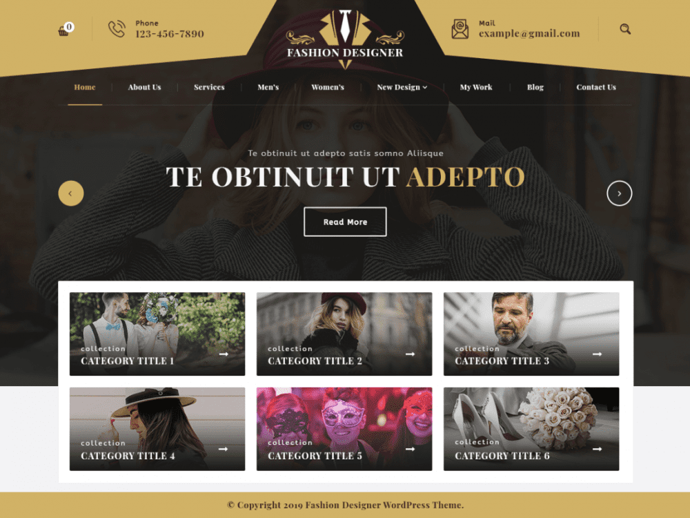 Free Fashion Designer WordPress theme