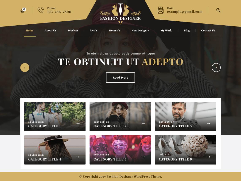 Download Free Fashion Designer Wordpress Theme Justfreewpthemes