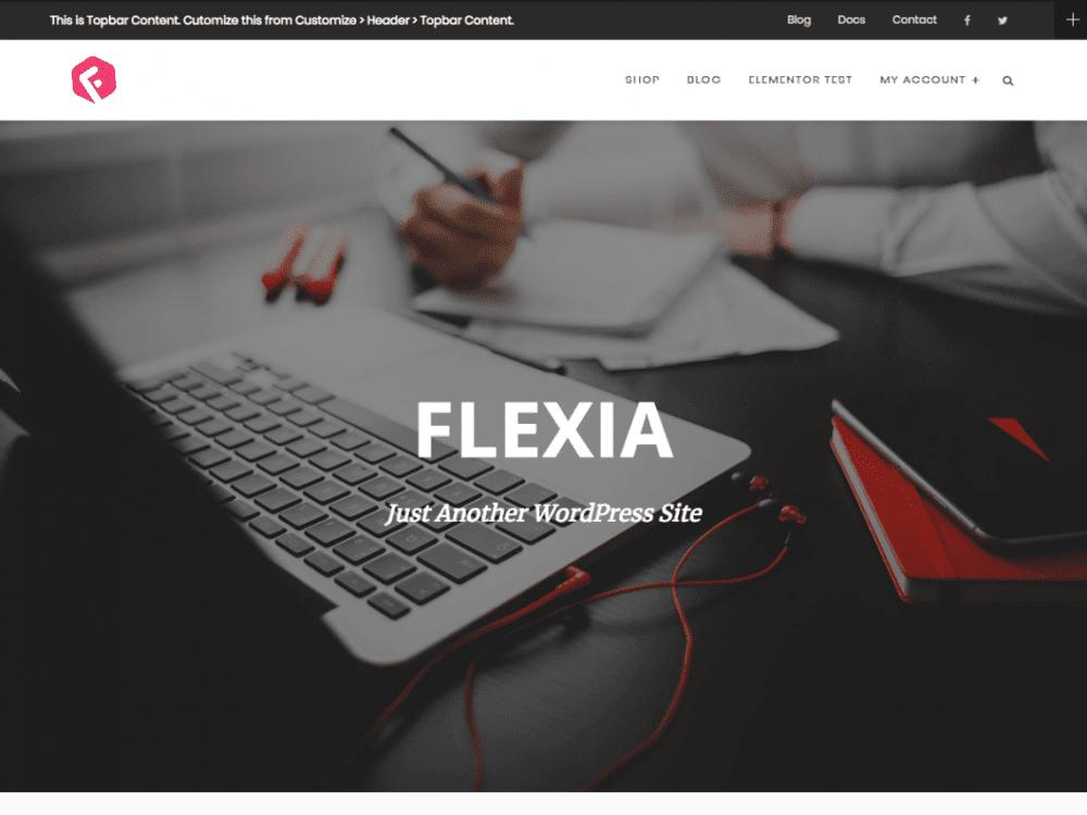 Free Flexia WordPress theme