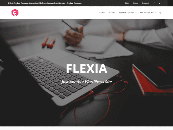 Free Flexia WordPress theme