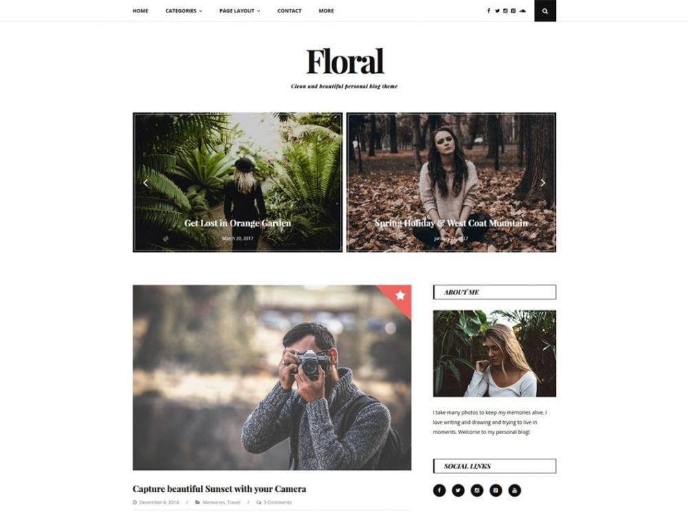 Free Floral Lite WordPress theme