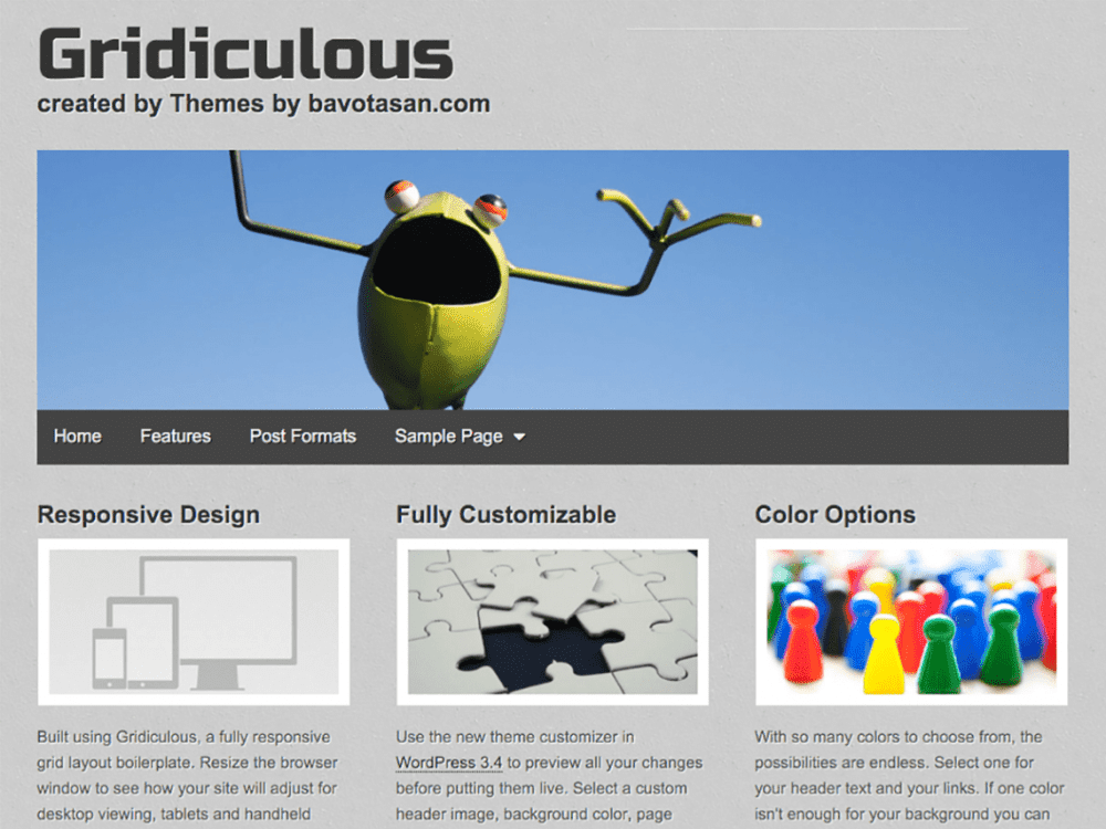 Free Gridiculous WordPress theme