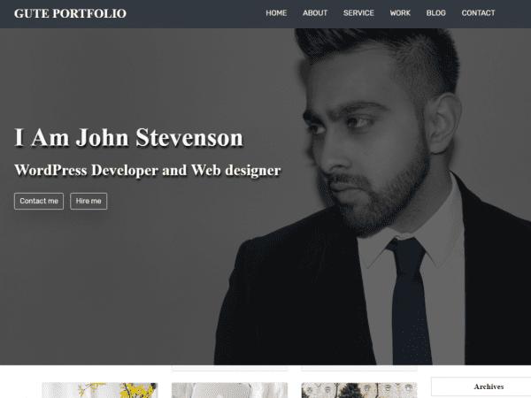 Free Gute Portfolio WordPress theme