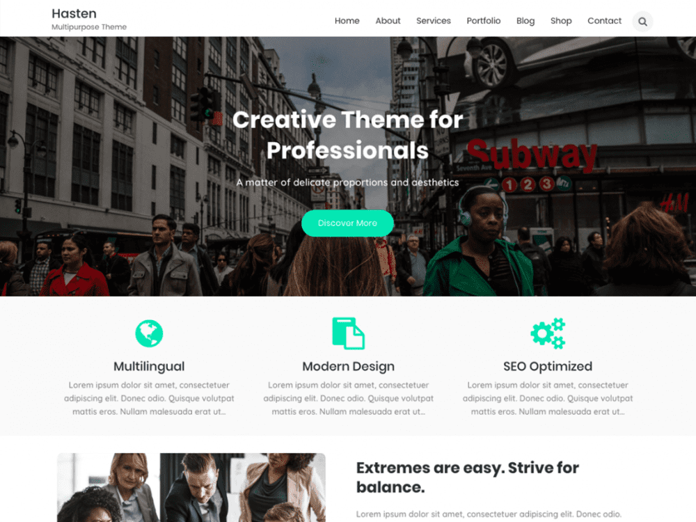Free Hasten Lite WordPress theme