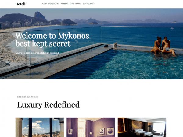 Free Hoteli WordPress theme